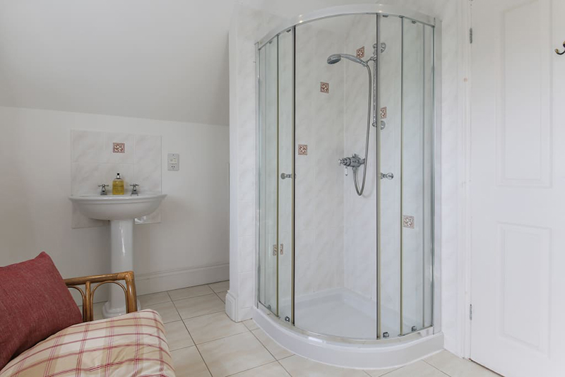 Shower room at Hillside Cottage Padstow