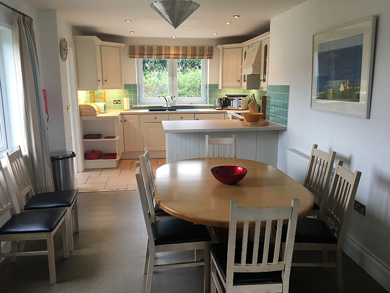 Open plan kitchen diner at Hillside Cottage Padstow