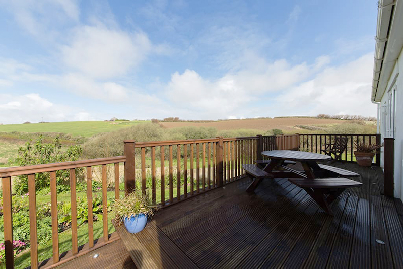 View from the veranda at Hillside Cottage Padstow